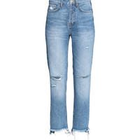 H&M Straight Regular Trashed Jeans $49.99