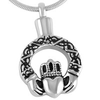 "Cremation ""Crown Heart"" Cremation Urn Necklace"