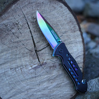 TAC FORCE RAINBOW 2 SPRING ASSISTED KNIFE