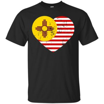 New Mexico Flag Shirt USA American Flag T-Shirt Zia Sun