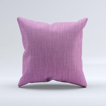 Purple Fabric Texture ink-Fuzed Decorative Throw Pillow
