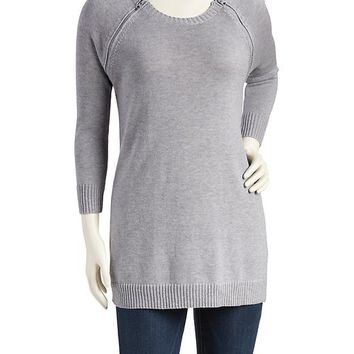 Old Navy Side Zip Nursing Tunic Sweater
