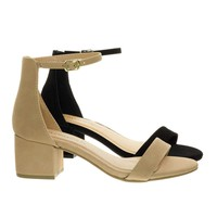 Weekend by City Classified, 2 Piece Low Chunky Block Heel Open Toe Dress Sandal w Ankle Strap
