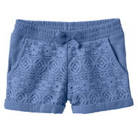 Toddler Girl Jumping Beans® Lace-Front Slubbed Shorts