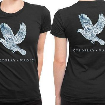 Coldplay Magic 2 Sided Womens T Shirt