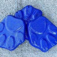 Dog paw print planter feet, Pot feet, Dog print, Yard art, Patio decor, cobalt blue, Plant stand