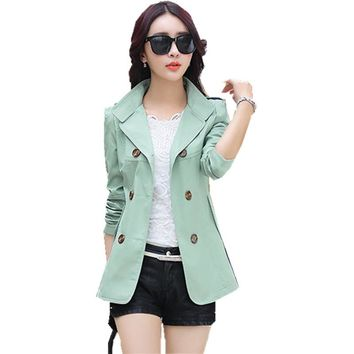 Spring and autumn women's 2016 25 30 35 - - - 40 fashion slim female short design trench outerwear