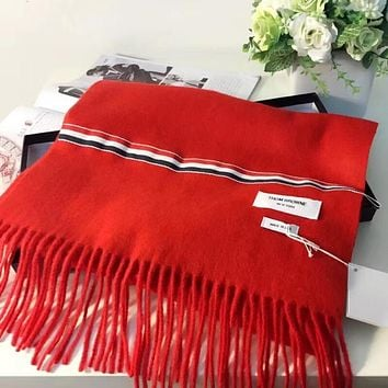 Thom Browne Women Fashion Wool Warm Scarf Scarves