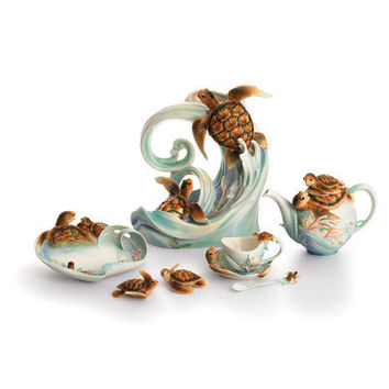 Franz Collection Turtle Porcelain Collection
