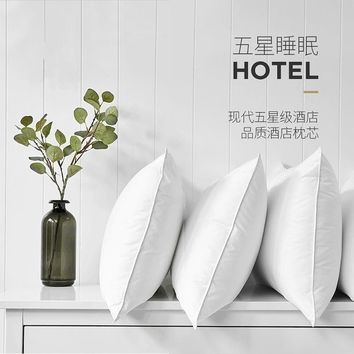 New Super soft pillow. 5 Star Hotel pillows. Household pillows. Solid color pillows.Manufacturer sales.48x74cm