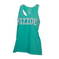 The Mizzou Store - Mizzou Juniors' Chevron Print Green Tank Top
