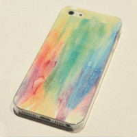 Rainbow Painting Hard Cover Case For Iphone 4/4s