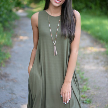 Make It Happen Olive Dress