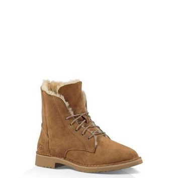 Ugg 1012359 Maroon Classic Street Quincy Boots Snow Boots - Beauty Ticks