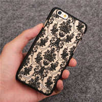 2015 Chinese style Noble Fashion Luxury Flower Pattern for Apple iphone 6 6S Cases 4.7 6Plus 6sPlus 5.5 Cell Phone Back Cover