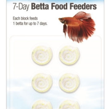 Aqueon Food Betta Feeder 7 Day 6 Pack