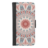 Striking Modern Kaleidoscope Mandala Fractal Art iPhone 8/7 Wallet Case