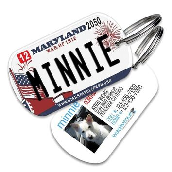 Maryland License Plate Pet Tag