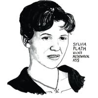 Sylvia Plath Kicks Metaphorical Ass Literary Poster Print Great American Poet