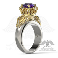 Luckenbooth Thistle Scottish engagement flower leaf ring .925, 14k Yellow White Rose gold, custommade, handmade ***Made to Order - 102