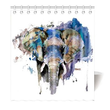 Watercolor Bull Elephant