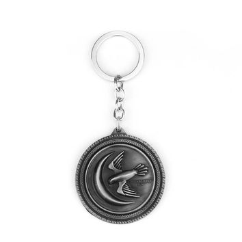 A Song of Ice and Fire Key Chain Men Jewelry Chaveiro Key Ring Game of Thrones Metal Key Chain Key Ring