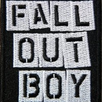 """2.5"""" x 3""""FALL OUT BOY Logo Music Band Logo jacket T-shirt Patch Iron on Embroidered Sign Badge music patch by Tourlesjours"""