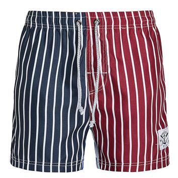 Summer Men Casual Loose Stripe Board Shorts Male Beach Shorts