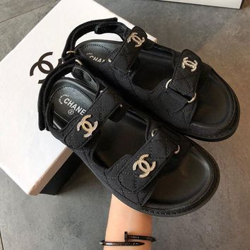 Chanel Women Fashion Casual Flats Shoes Sandals Shoes
