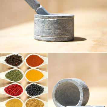 Stone Mortar and Pestle for Spices