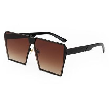Oversized Box Frame Colored Sunglasses