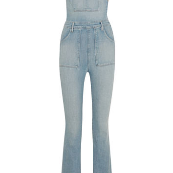 Frame Denim - Le High Flare stretch-denim overalls