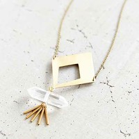 Crafts And Love Driftwood Necklace- Gold One