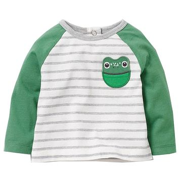 Baby Boys T shirt Fashion Boys Sweatshirt with Animal Appliques Autumn Enfant Long Sleeve Boys Clothes Moana Children Clothing