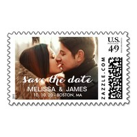 Bold Script | Photo Save the Date Stamp