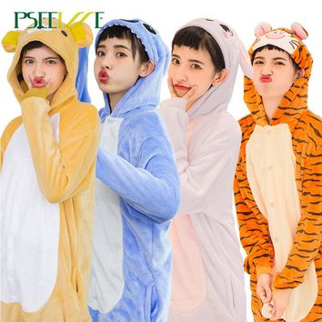 Child Winter Halloween Adult Anime Pajamas Sets Cartoon Sleepwear Women Pajamas Flannel Boy girl Animal cosplay Unicorn Pajamas