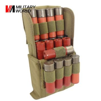 Tactical Military Shotgun Buttstock Shell Holder MOLLE 25 Round 12 Gauge Shells Ammo Round Cartridge Holder for Shooting