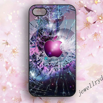 Broken Shattered Glass Closeup Ripple iphone case,Galaxy Nebula iphone 4/4s,Apple Logo Custom iphone 5/5s/5c,Broken glass samsung galaxy s5