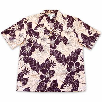 Haven Purple Hawaiian Cotton Shirt