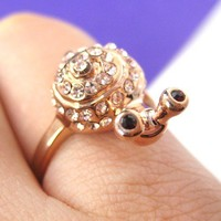 Cute Snail Insect Animal Ring in Light Gold - Sizes 6 and 7.5 ONLY from Dotoly Love