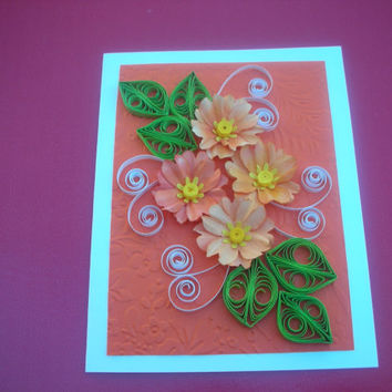 Happy Birthday Card Birthday Card Mom Friend Greeting Card Quilling Card For Her