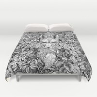 hidden fox Duvet Cover by Sarachnid