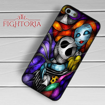 The Nightmare Before Christmas Stained Glass - zZzA for  iPhone 6S case, iPhone 5s case, iPhone 6 case, iPhone 4S, Samsung S6 Edge