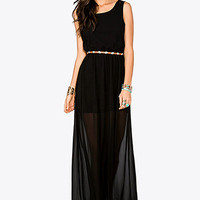 FOREVER 21 Lace Cutout Maxi Dress Black