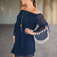 Passion For Peace Dress, Navy