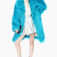 Henri Bendel Faux Fur Cookie Coat