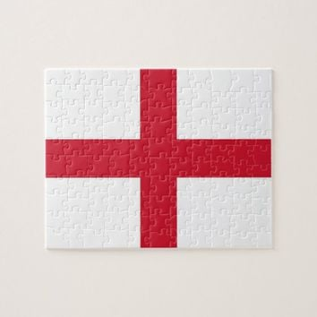 Puzzle with Flag of England