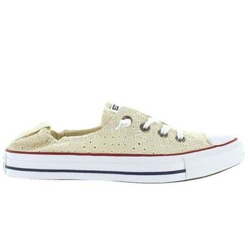 VONES2C Converse All-Star Chuck Taylor Shoreline Slip - Off White Canvas Eyelet Cut-Out Slip-On Sneaker