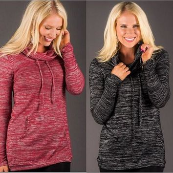 Women's Fashion Long Sleeve Pullover Knit Tops [11218590087]