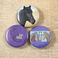 Horse Lovers Pinback Button Set